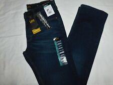 LEE Classic Fit Jeans Straight Leg Premium Flex Denim Stretch Dark Blue Hijack