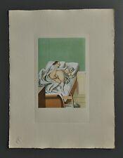 Peter Fendi 1796-1842 Lithographie 30x40 Akt Erotik Nude Couple Bed Bett Erotika