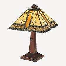 Meyda Tiffany 142879 Sierra Prairie Mission - 1 Light Accent Lamp  Mahogany