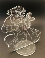 "1992 Disney Cast Member Picnic Beauty & The Beast 8.5"" Plastic Acrylic Display"