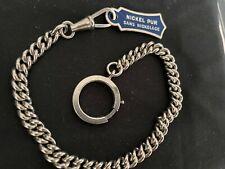 Ancienne Chaîne de Montre à Gousset Nickel 24 cm 21 gr- Vintage Fob Watch Chain