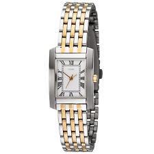 NEU BICOLOR Damen Armbanduhr römische Ziffern silber/gold wasserdicht elegant