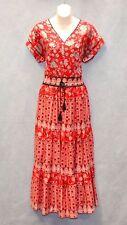 C0 NWT LAUREN RALPH LAUREN Red Cotton Floral Print Drawstring Dress Size 2 $165
