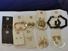 Urban Outfitters, 10 earings lot, bundle, various assorted,golden,hoops, RRP 140
