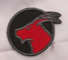 Embroidered Horoscope Astrology Red & Black Capricorn Goat Sign Patch Iron On