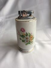 Antique 1940s Vanity Lighter, Blue Letter Japan