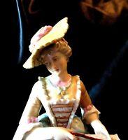 "Antique Minton Porcelain Victorian Lady Figurine  England 16"" Tall"