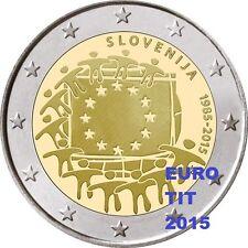 2 €    SLOVENIE   COMMEMORATIVE   2015    1   X  PIECE  DRAPEAU     disponible