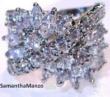 5CT HUGE CZ MARQUISE COCKTAIL CLUSTER BLING RIGHT HAND RING SIZES 5 or 6