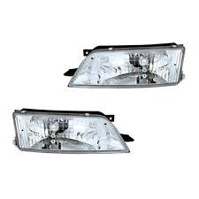 Fits 1997-1999 Nissan Maxima Driver + Passenger Headlight Lamp Assembly 1 Pair