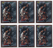Stephon Marbury Rookie 6-Card 1996-1997 Topps Finest ROOKIE LOT #62-TIMBERWOLVES