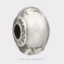 Authentic Pandora Sterling Silver Murano Fascinating White Bead 791070
