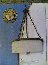"NIB  Nice Big  (17""W x 25""H)  Energy-Efficient Fluorescent PENDANT Ceiling LIGHT"
