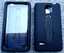 LG Optimus L9 / MS769 / P769 Phone Case with BUILT IN SCREEN PROTECTOR sBLK/BLK