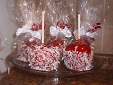 GOURMET RED CANDY APPLE/APPLES COCONUT PARTY FAVOR/FAVORS