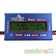 DC Watt Meter Digital 60V/100A Voltage Battery Analyzer[Volt-Amp-Watt-Ah-Wh]
