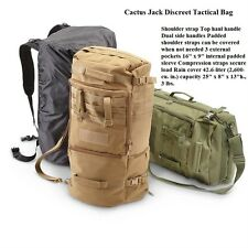 Cactus Jack Discreet Tactical Bug Out Bag / Military / Survival Gear - BLACK-NEW