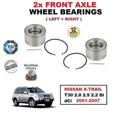 FOR NISSAN X-TRAIL T30 2.0 2.5 2.2 Di dCi 2001-2007 2x FRONT AXLE WHEEL BEARINGS