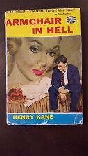 "Henry Kane, ""Armchair In Hell,"" 1956, Avon 703, VG-, 1st"