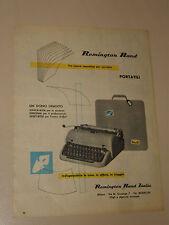 REMINGTON RAND MACCHINA DA SCRIVERE=ANNI '50=PUBBLICITA=ADVERTISING=WERBUNG=354
