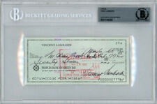 Vince Lombardi Autographed Signed 3x6 Check Green Bay Packers Beckett 11145392