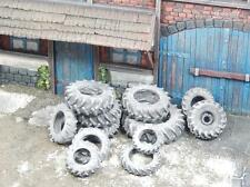 1/35 scale old tractor tyres / Tires - 13 pieces - Diorama accessory