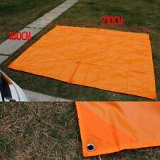 Orange CAMPING TENT FLOOR CARAVAN BEACH COVER TARP SHADE HIKING 220 x 180 cm