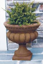 "24"" Egg & Dart Milano Urn - Outdoor Concrete Garden Planter Flower Pot  Statue"