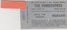 Sammler Used Ticket / Entrada The Commodores Concert 8-03-1987 Rotterdam Holland
