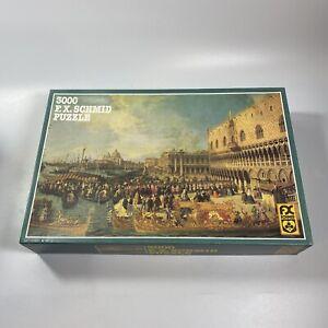 FX Schmid 3000 Piece Super Jigsaw Puzzle Canaletto Venice, Italy Rare