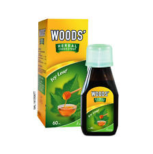 1 X WOOD'S Herbal Cough Syrup Ivy Leaf 60ml Relief Cough & Sore Throat (SKU-FZ)