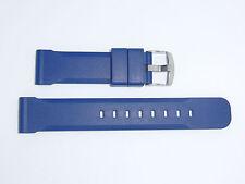 Bonetto Cinturini (Italy) Rubber Watch Band 22 mm , Blue, Model 317