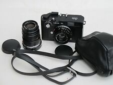 Leica CL with 40mm f:2 Summicron, 90mm f:4 Elmar C case/strap/hood complete LQQK