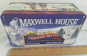 Vntg Decorative Candy/Cookie Steel Storage Box MAXWELL HOUSE COFFEE Advertising