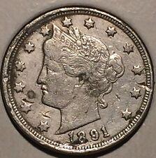 "^ 1891 Liberty ""V"" Nickel   ^^ VERY FINE ^^    127 YRS OLD     3460"