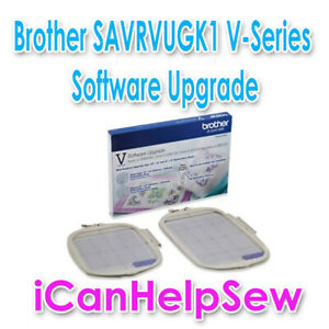 "Brother SAVRVUGK1 V-Series Software Upgrade with 12""x8"" & 8""x8"" Frames Hoops"