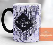 HARRY POTTER MARAUDERS MAP Magic Color Change Coffee Mug Cup GR HOME DECOR EDH