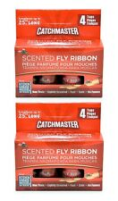 """2 CatchMaster Scented Fly Ribbon 4 Pack 25"""" Long"""