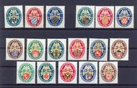 DR 375-77, 398-401, 425-29, 430-34 Nothilfe Wappen ungebraucht komplett (dt89)