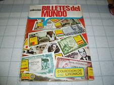 """ALBUM """"COLECCION DE BILLETES DEL MUNDO"""" COMPLETO EDICIONES ESTE 1974"""