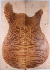 Quilted Maple Curly Wood bookmatch Guitar top luthier + ONE Headplate GIFT