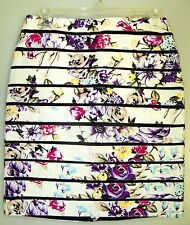 WHITE HOUSE BLACK MARKET--sz 14--JACQUARD FLORAL BUMBLEBEE PENCIL SKIRT--NWT
