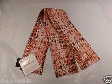 NWT COACH Rose Petal Tweed Print Ponytail or Neck Scarf 85045