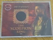 RARE THE SCORPION KING PIECEWORKS CARD!STEVE BRAND COSTUME PC! INKWORKS! COA PW3