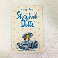Vintage Color Nancy Ann Storybook Doll List Nice Shape T55