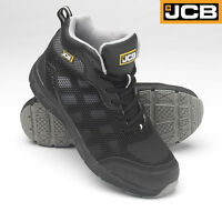 JCB Lightweight Mid Cut Safety Work Boots S1P SRC Steel Toe Cap Mid Sole UK 3-12