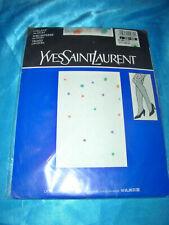 Yves Saint Laurent Tupfen Punkte Feinstrumpfhose Gr. 38-40 weiß Collant OVP