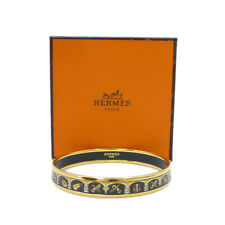Authentic HERMES Enamel Bangle Bracelet   Multi-Color Cloisonne #K503038