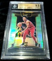 COLLIN SEXTON 18-19 SELECT NEON GREEN PRIZM PARALLEL ROOKIE RC 68/75 BGS 9.5