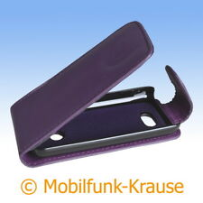 Flip Case Etui Handytasche Tasche Hülle f. Nokia 208 (Violett)